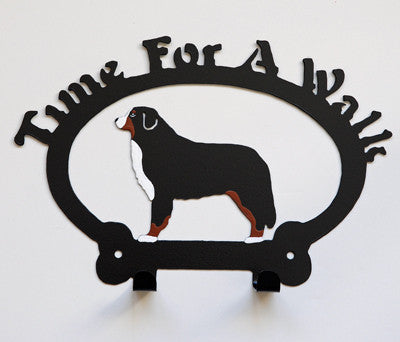 Time For A Walk, Wall Hooks - Bernese