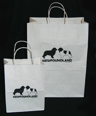 Large White Newfie Gift Bags