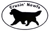 Jumbo Crusin' Newfs Decal Set - white background
