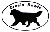 Jumbo Crusin' Newfs Decal Set - clear background