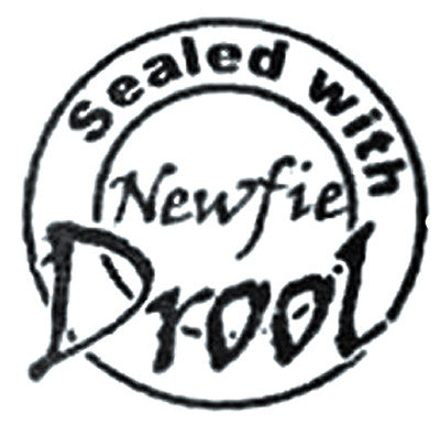 Sealed With Newfie Drool, Rubber Stamp