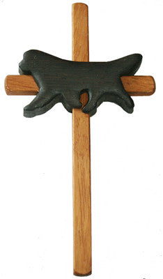 Handcrafted Newf Sympathy Cross