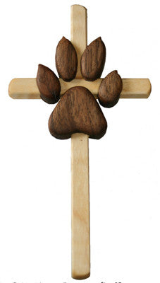 Handcrafted Paw Sympathy Cross