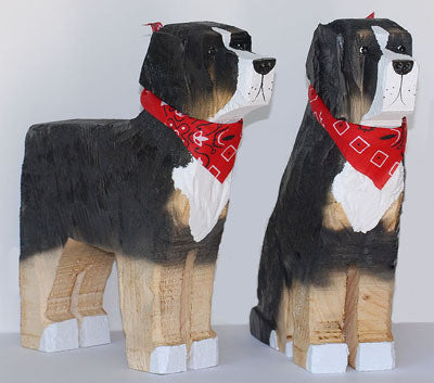 Bernese Mountain Dog Wood Carving - Limited Supply
