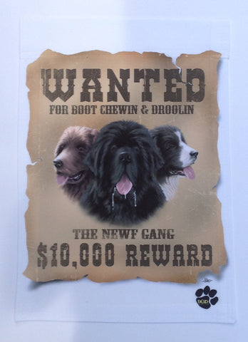 """Wanted"" For Boot Chewin & Droolin - Garden Sized Flag"