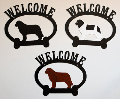 Oval Newfie Welcome Sign
