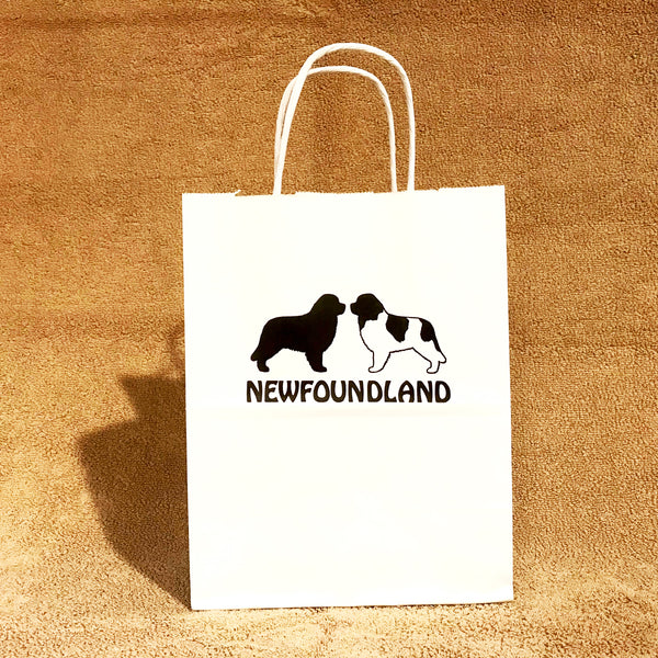 Large & Small White Newfie Gift Bags
