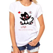 Load image into Gallery viewer, Cute Cat Print Tees Shirt Short Sleeve - Exille
