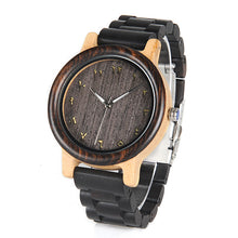 Load image into Gallery viewer, BOBO BIRD WN14N15 Wenge Wooden Watches Eastern Arabic Persian Farsi Numerals Dial Face Watchs Ebony Band Watch for Lover's - Exille