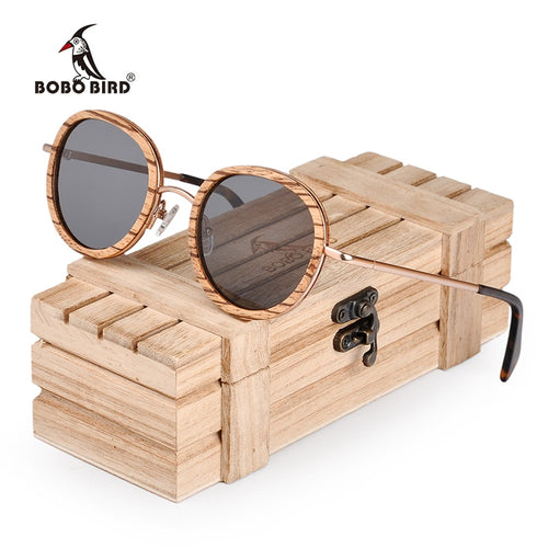 Women Polarized Wood Sun Glasses in Wooden Gift Box uv400 - Exille