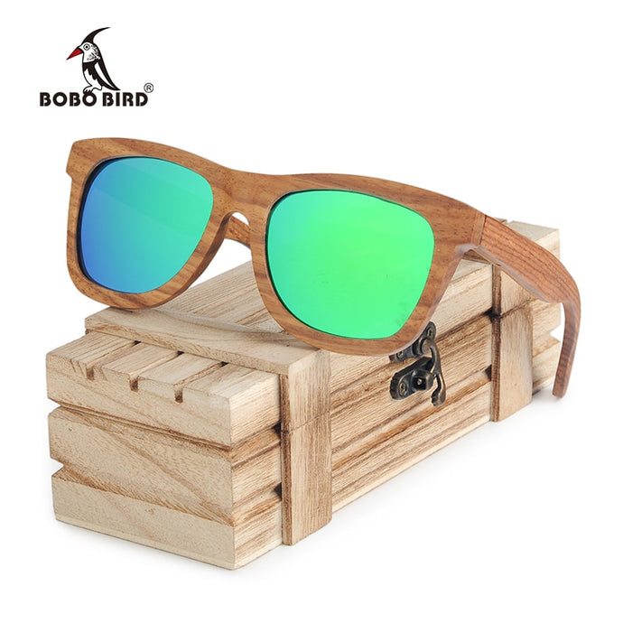 Retro Polarized Wood Square Sunglasses For Men And Women - Exille