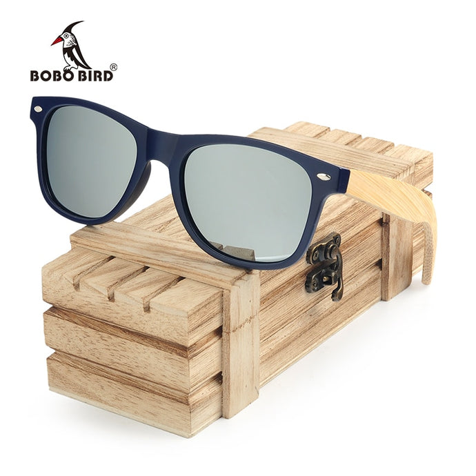 BOBO BIRD Bamboo Wooden Sunglasses For Men And Women - Exille