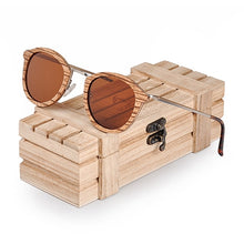 Load image into Gallery viewer, Wood Sun Glasses in Wooden Gift Box W-AG028 For Women - Exille