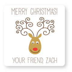 personalized Christmas gift labels | reindeer