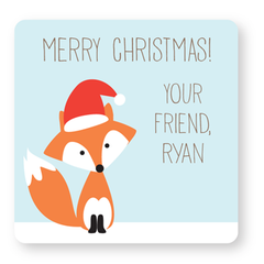 personalized Christmas gift labels | fox