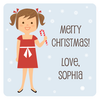 "2"" square Christmas gift labels 