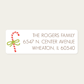 Return Address Labels | Candy Cane