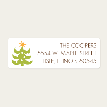 Return Address Labels | Christmas Tree