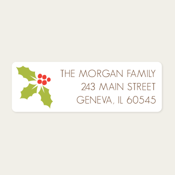 Return Address Labels | Holly
