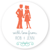 "family silhouette gift labels | 3"" circles"