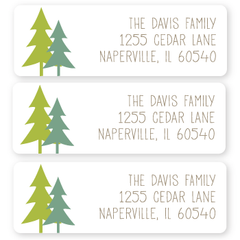 evergreen return address labels