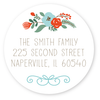 "floral return address labels | 1.67"" circles"