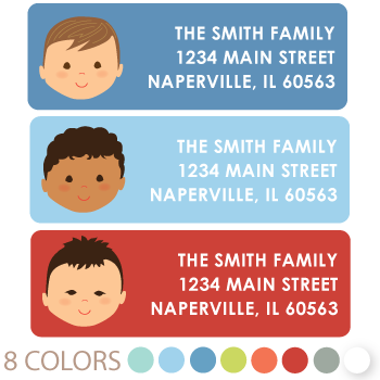 custom boy return address labels