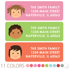 custom girl return address labels