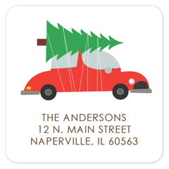 "2"" square return address labels 
