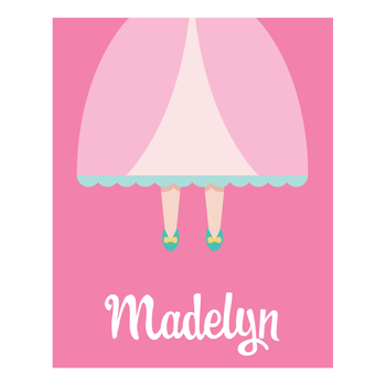 princess dress personalized art print