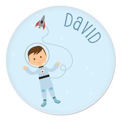 personalized childrens plate | astronaut