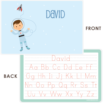 personalized kids placemat | astronaut