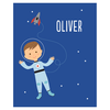 custom childrens art print | astronaut
