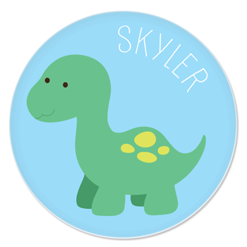 personalized plate | baby dino