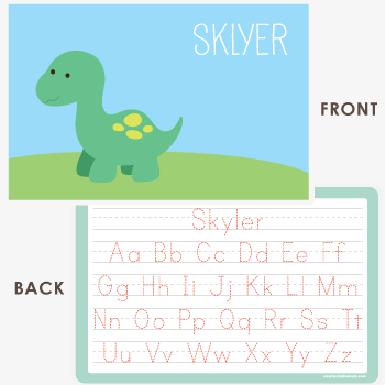 personalized kids placemat | baby dino