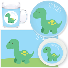 personalized mealtime set | baby dino