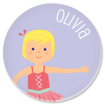 personalized childrens plate | ballerina