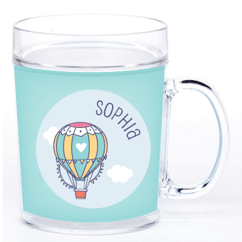 personalized cup | hot air balloon