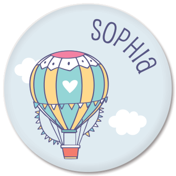 personalized kids plate | hot air balloon