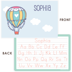 personalized kids placemat | hot air balloon