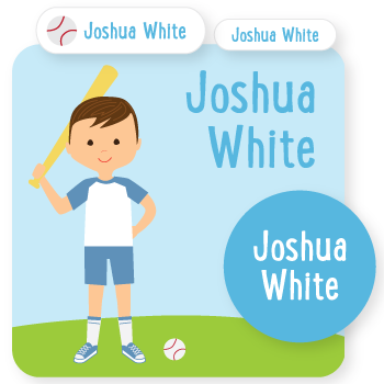 custom name labels | baseball | boy