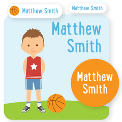 custom name labels | basketball