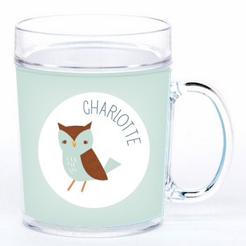 personalized cup | blue owl