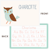 personalized kids placemat | blue owl