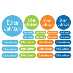 name labels | solid blues