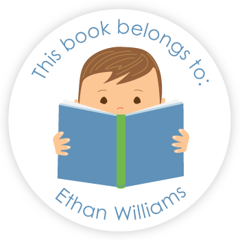 custom bookplates | boy