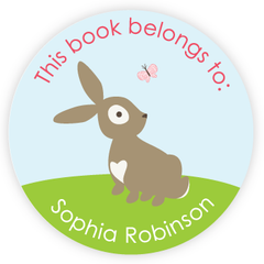 personalized bookplates | bunny