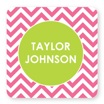 personalized bookplates | pink chevron