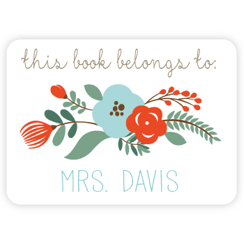 personalized bookplates | floral