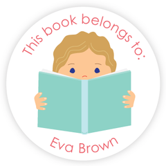 custom bookplates | girl